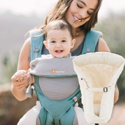 Ergobaby 360 + Infant Insert, Icy Mint, Cool Air Mesh