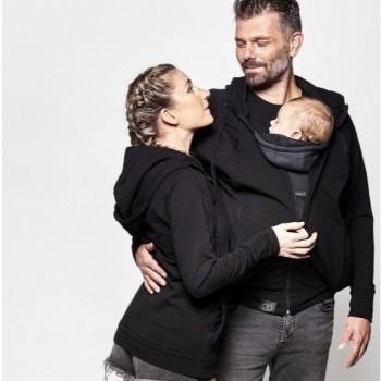 Parent's Hoodie - vaiko nešiojimui, nėštumui, kasdienai, LOVE RADIUS, Black