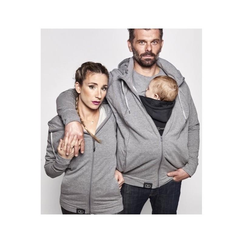 Parent's Hoodie - vaiko nešiojimui, nėštumui, kasdienai, LOVE RADIUS, Grey