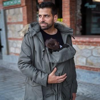 BANDICOOT - babywearing coat for men, Grey